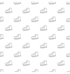 Ice skate pattern seamless vector