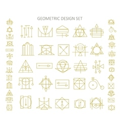 icons of abstract geometric symbols vector image vector image