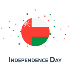 Independence day of oman patriotic banner vector