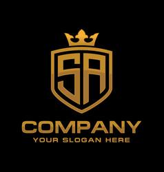 initial letter sa logo design vector image