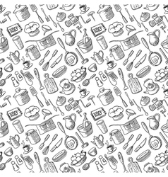 Kitchen doodles vector