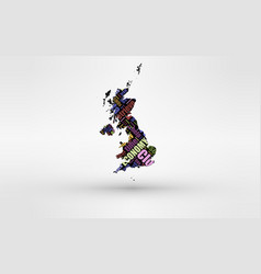map of great britain - england wales scotland vector image