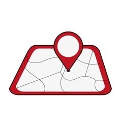 map with gps pin icon vector image