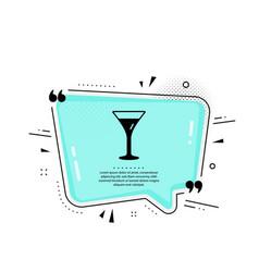martini glass icon wine glass sign vector image