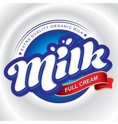milk packaging design vector image