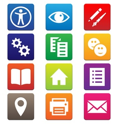 Mobile App Icons vector image