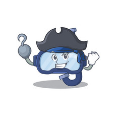 One hook hands pirate character dive glasses vector