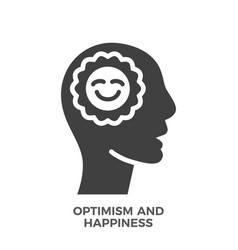 optimism and happiness glyph icon vector image