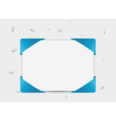 paper with ribbon in corners vector image