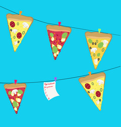 pizza background vector image
