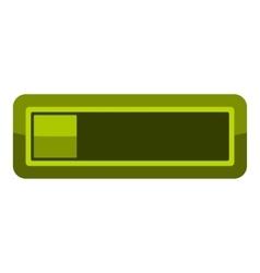 Player green button icon cartoon style vector