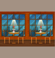 Pub and restaurant background scene vector