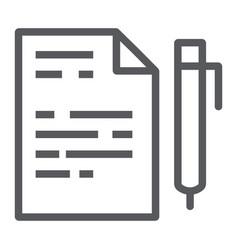 quiz line icon school and education exam sign vector image