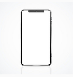 realistic detailed 3d blank phone template mockup vector image