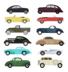 Retro car set vector image