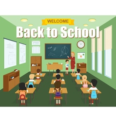 School Classroom Template vector
