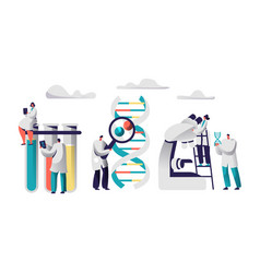 scientist team research medicine in chemical vector image