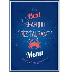 Seafood restaurant menu vector