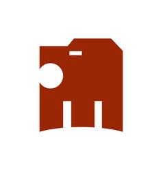 simple lion head logo vector image