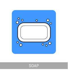 Soap flat icon of hygiene and beauty products vector