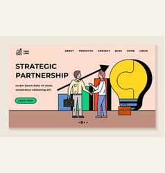 Strategic partnership cooperation partners vector
