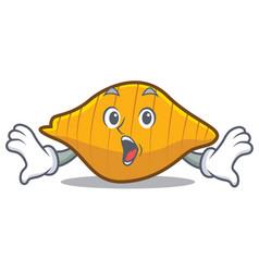 Surprised conchiglie pasta mascot cartoon vector
