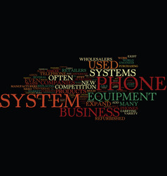 The market for used business phone system vector