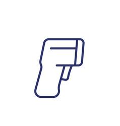 thermometer gun line icon vector image