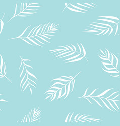 Tropical palm leaves in delicate pastel vector