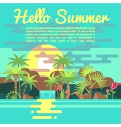 Tropics summer vacation background in vector image
