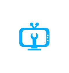 Tv service logo template design vector