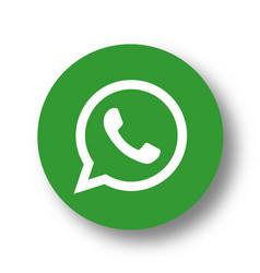 Whatsapp logo icon vector