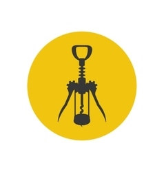 Wine corkscrew silhouette vector