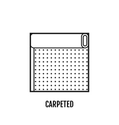 Flat icon of carpeted Finishing materials floor vector image vector image