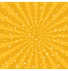 Orange sun vintage background Rays star burst vector image vector image