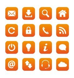 Orange web buttons vector image