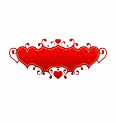 red hearts frame vector image