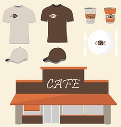 Cafe design vector image vector image