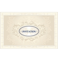 Invitation or Wedding frame with Floral background vector image vector image