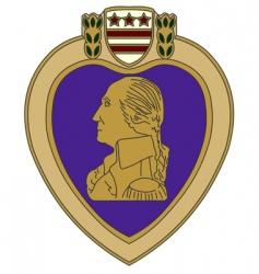 purple heart war medal vector image vector image