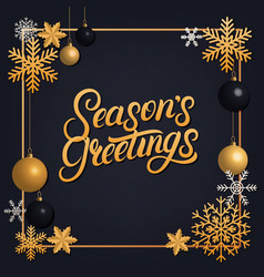 seasons greetings 2018 hand written lettering vector image