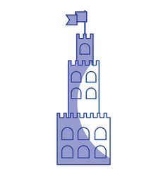 silhouette castle built on an kingdom to protect vector image vector image