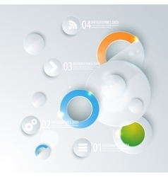 Abstract business geometrical design with circles vector image vector image