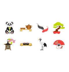 country japan icons in set collection for design vector image