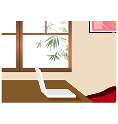 Home Office Laptop Background vector image vector image