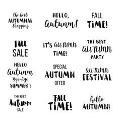 Seasonal autumn lettering Autumn typographic and vector image