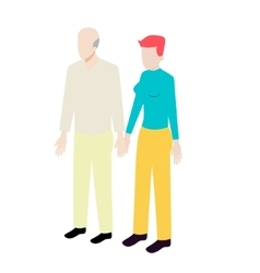 Different ages isometric couple vector