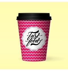 fastfood logo design concept vector image vector image