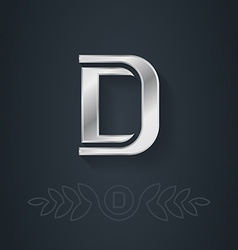 Letter D Template for company logo with monogram vector image
