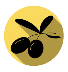 olives sign flat black icon vector image vector image